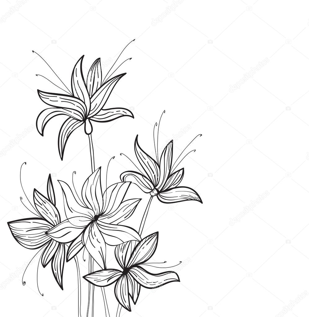 Floral Elements for design, EPS10 Vector background