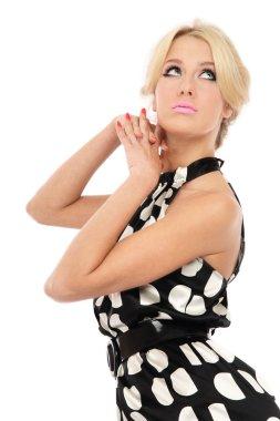 Thinking blondie