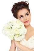 krásná nevěsta s kyticí