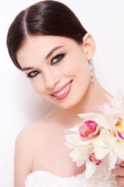 Beautiful happy bride