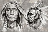 Photo Native american indian head