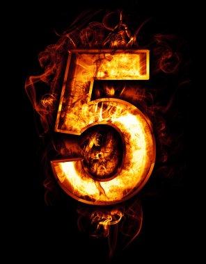 Illustration of number five