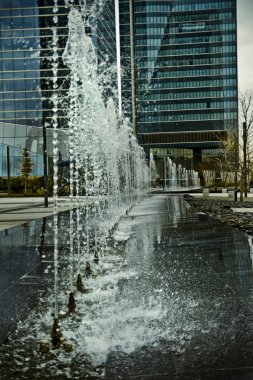 water jets, office building source