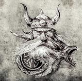Fotografie náčrt vikingské ornamenty