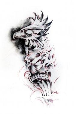 Totem, sketch of tattoo