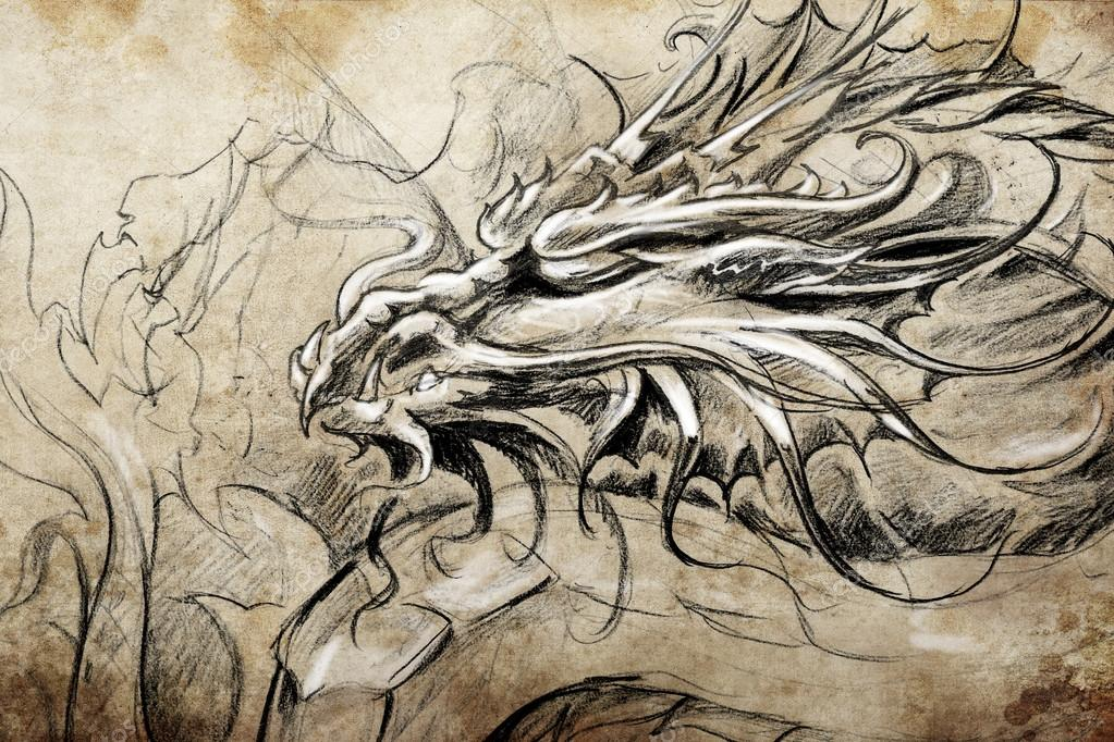 medieval dragon head � stock photo 169 outsiderzone 43108567