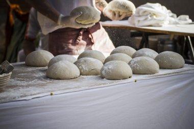 Baker making artisan bread