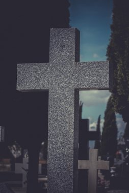 Old cross in a cemetery