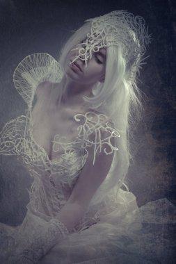 Beauty white woman