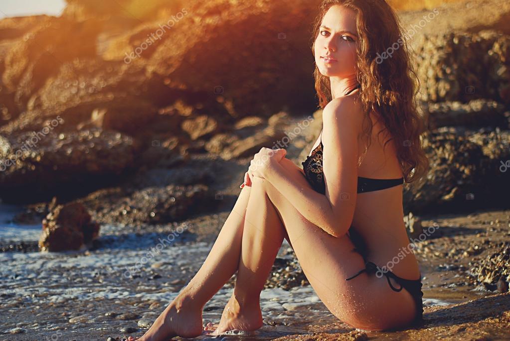 Beautiful girl on the beach