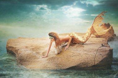 fairy mermaid on the sea