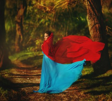 Snow White in the fairy forest