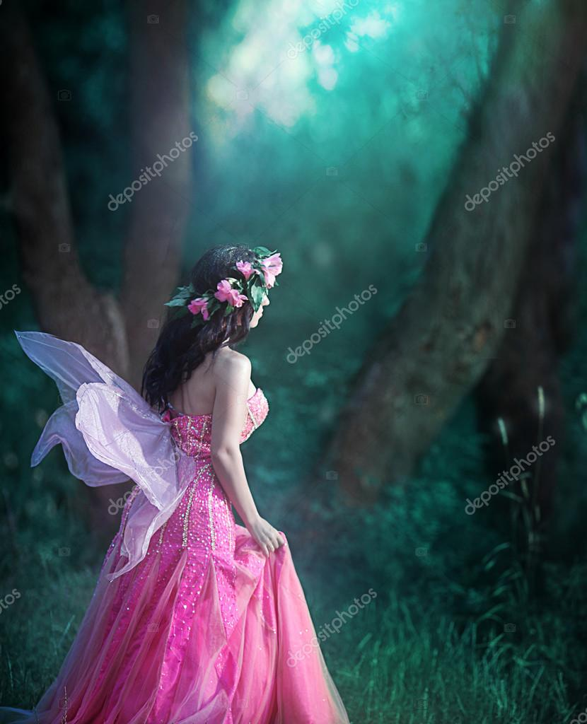 Enchanting Nymph in  forest