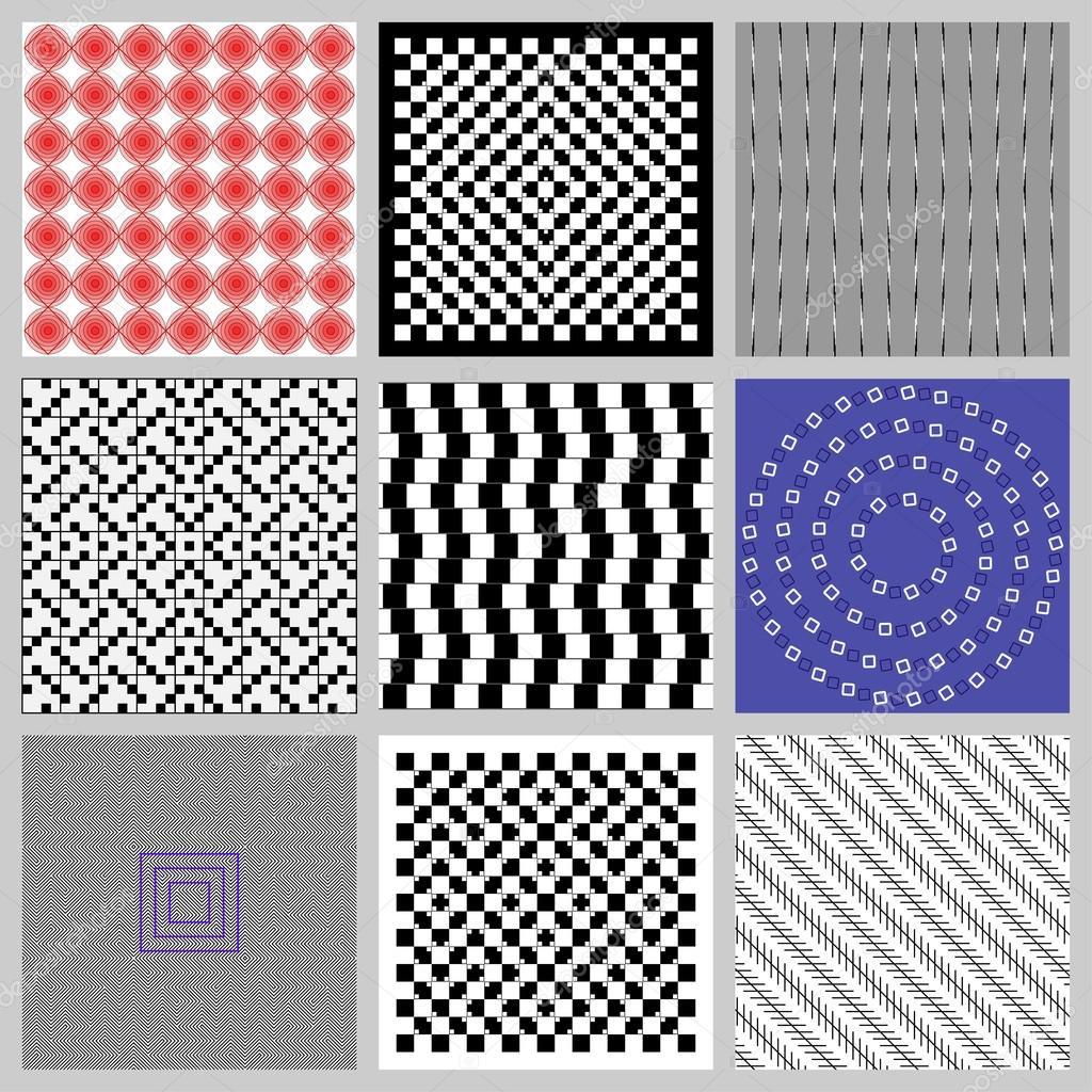 Vector Ilusion Optica Juego De Ilusiones Opticas Vector De