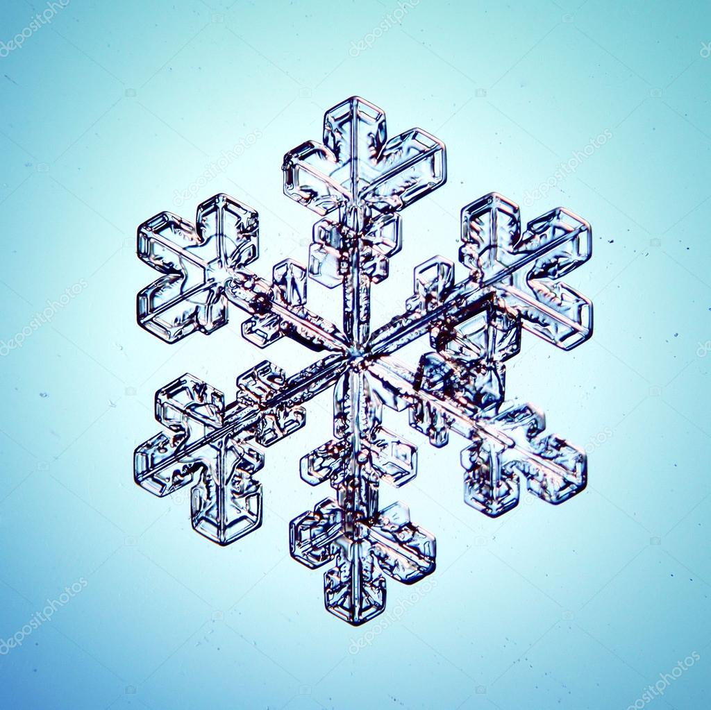 Ice crystal snowflake