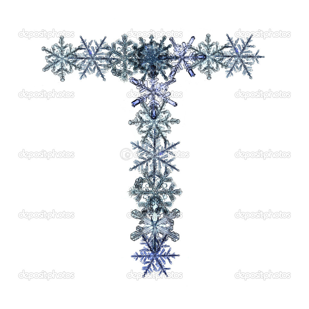 Font From Snowflakes Stock Photo Xload 22166181