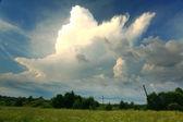 Fotografie Unusual field and sky