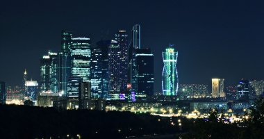 Moscow-city night