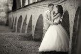 menyasszony és a vőlegény az esküvő