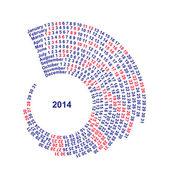 Fotografie Spiral Calendar