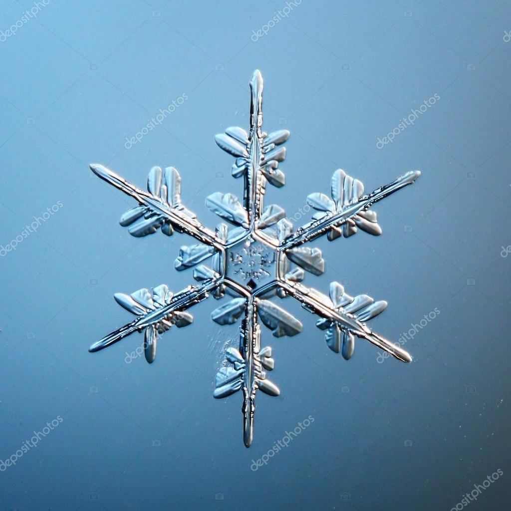 Snowflake ice crystals