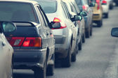Fotografie dopravní zácpy v městě, silniční, dopravní špičce