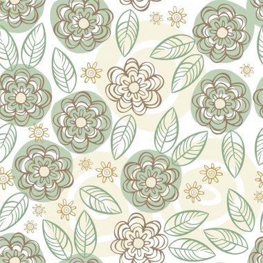 Green floral vintage background