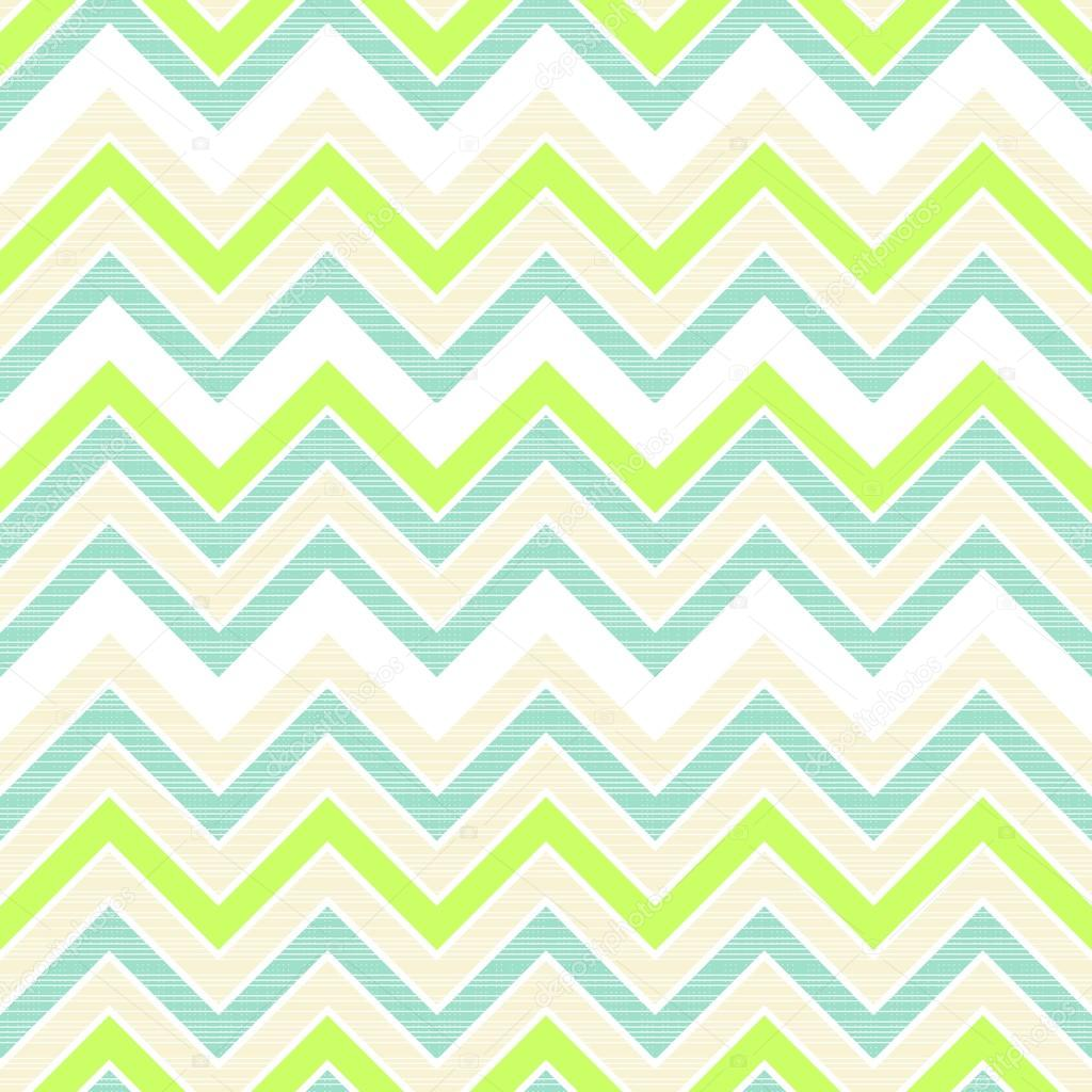 retro chevron geometrische muster in grün-weiß-beige und türkis, Hause deko
