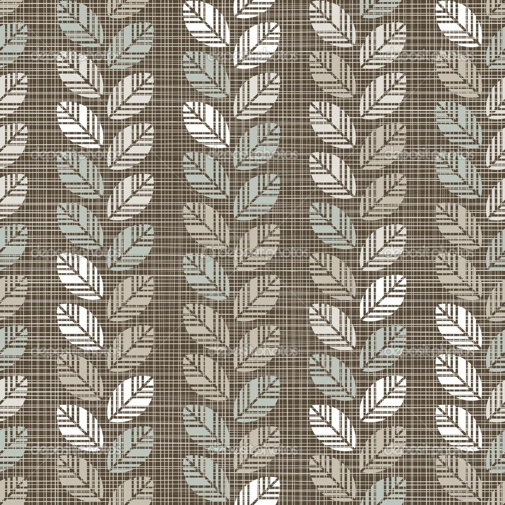 azul beige marrón blanco Botánico de patrones sin fisuras con filas ...