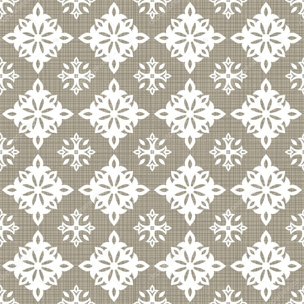 retro white big small star shaped elements in rows on gray brown