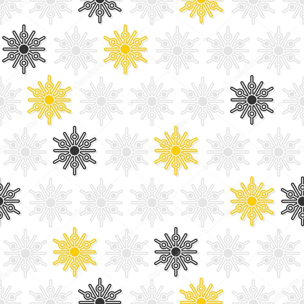 ligero y oscuro gris y amarillo pequeño puntos los copos de nieve en ...