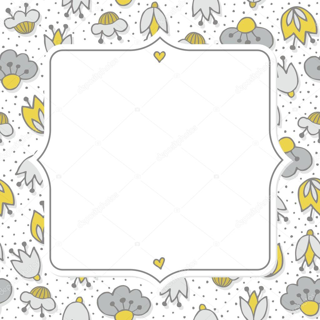 Messy different colorful yellow gray flowers on white background messy different colorful yellow gray flowers on white background with little dots retro botanical seamless pattern mightylinksfo