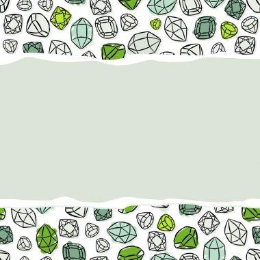 Shining crystals diamonds  pattern