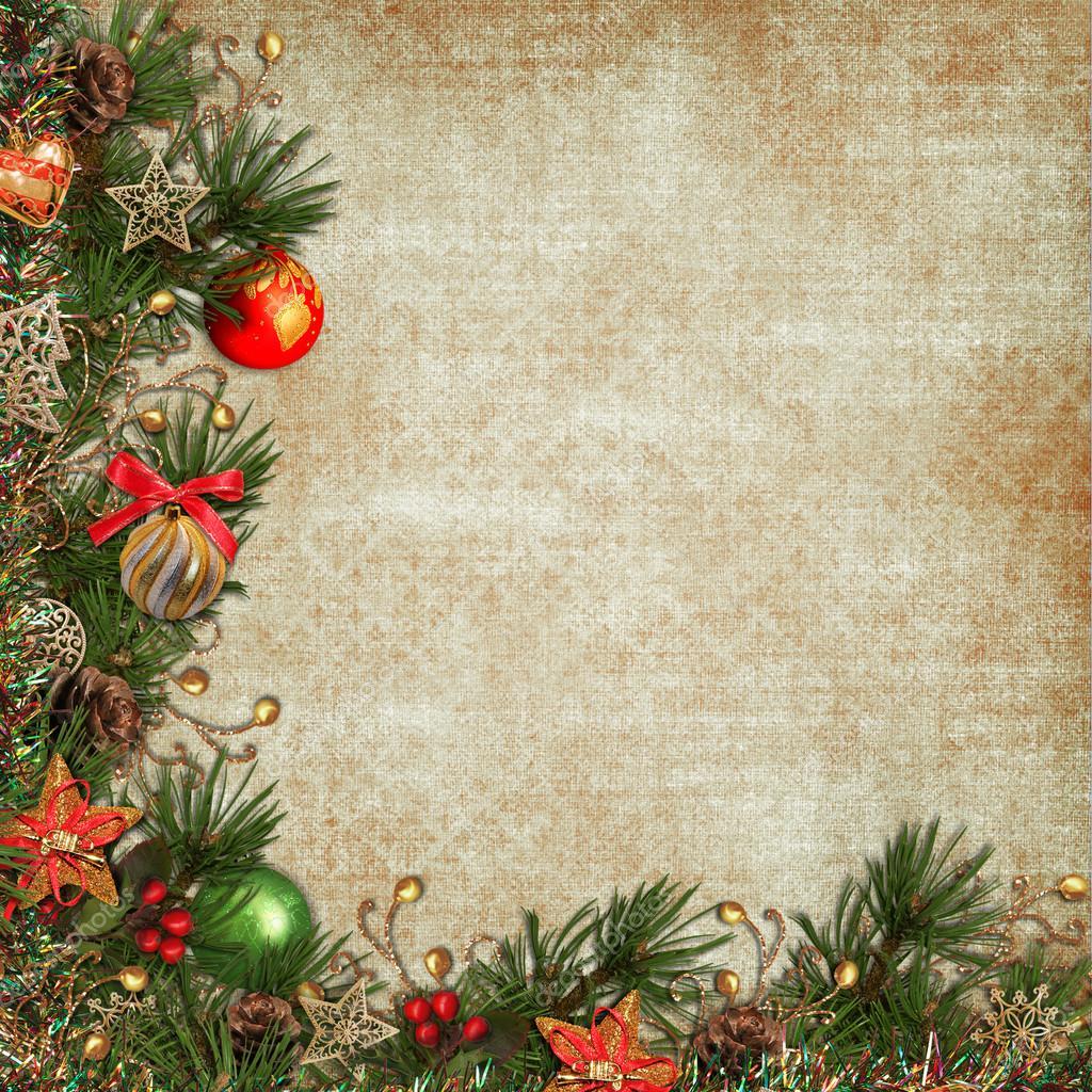 vintage weihnachten hintergrund stockfoto glaz 16234577. Black Bedroom Furniture Sets. Home Design Ideas