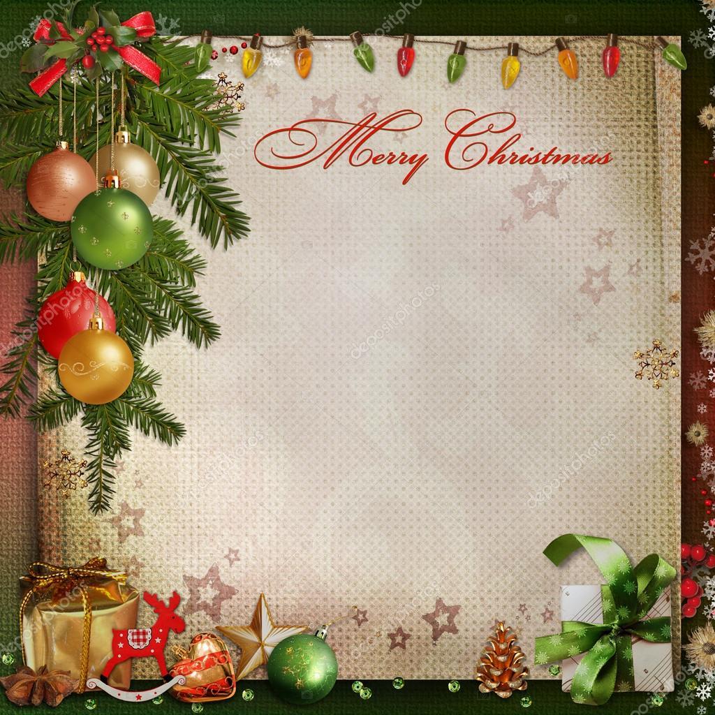 Юбилей лет, открытки с местом для текста на рождество