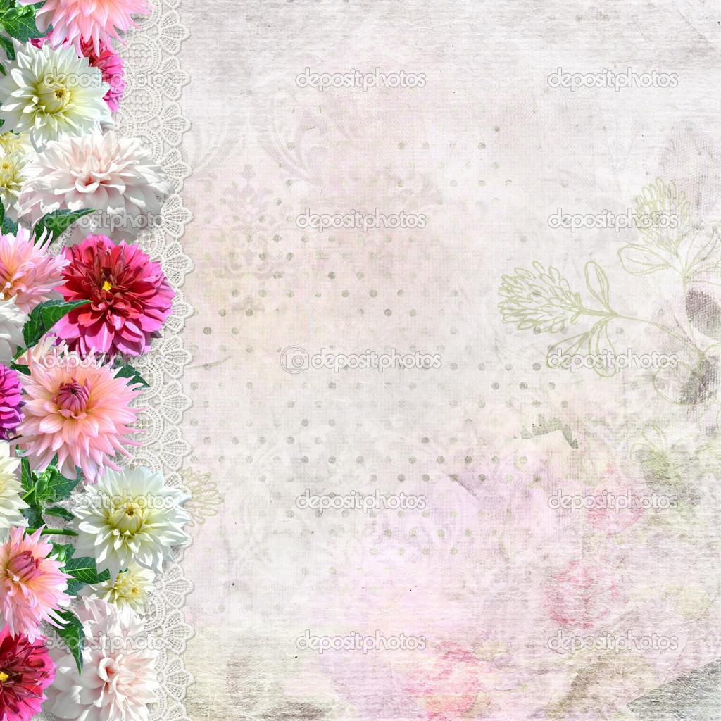 Vintage Colorful Floral Border