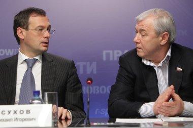 Anatoly Aksakov and Mikhail Sukhov