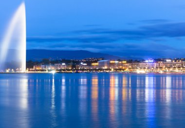 Lake geneva Switzerland Night