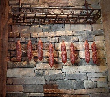 Sausages Hanging