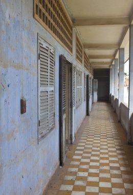 Corridor  in Tuol Sleng  (S21) Prison