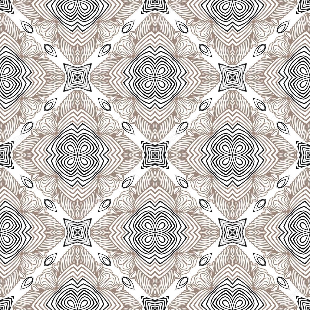 Floral Motif Géométrique Style Contemporain Image Vectorielle
