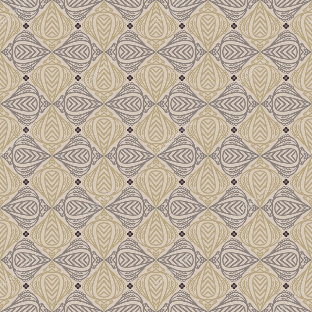 Color cafe vintage | patrón de la vendimia en color sepia — Vector ...