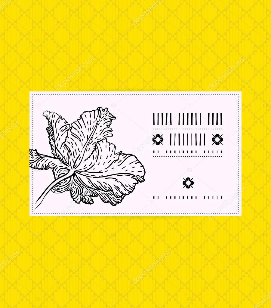 Wektor Wzór Karty Z Kwiaty Tulipanów Grafika Wektorowa Tukkki