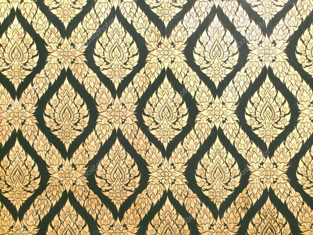 Thai art wall pattern for background — Stock Photo © paisan191 #37485057