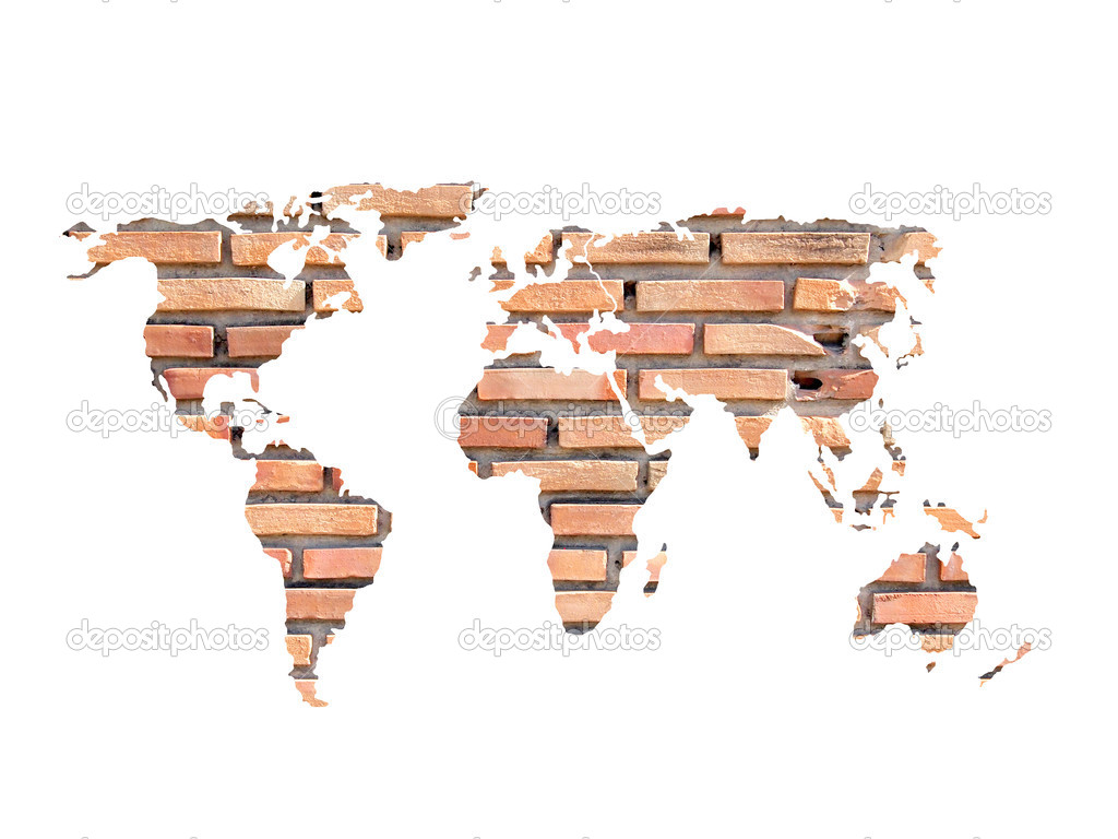 Grunge concrete world map on old brick wall stock photo grunge concrete world map on old brick wall stock photo gumiabroncs Images