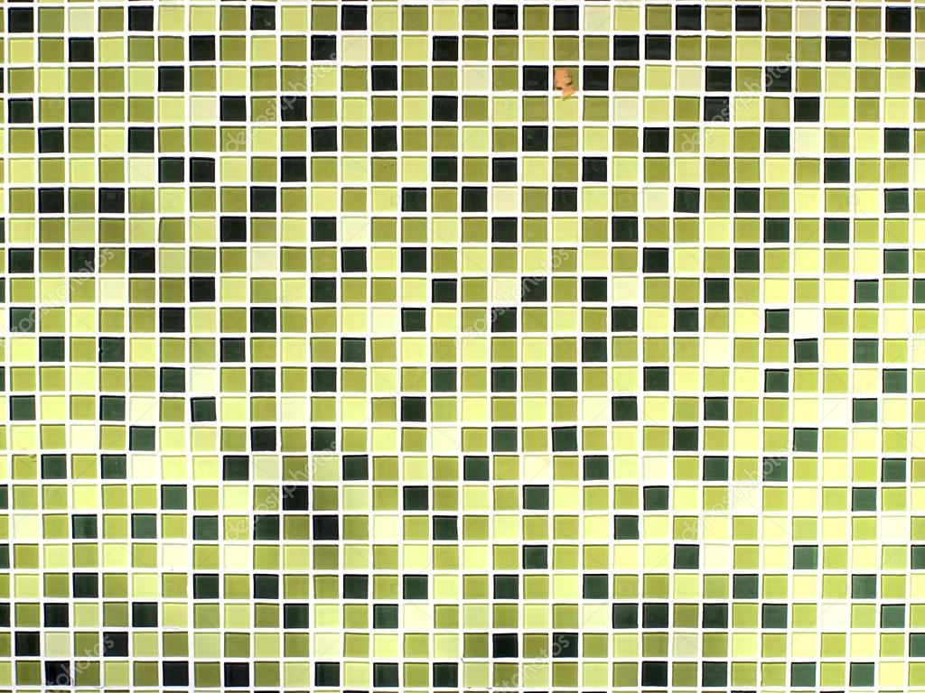 Groene Mozaiek Tegels : Groene naadloze mozaïek tegels achtergrond u2014 stockfoto © paisan191