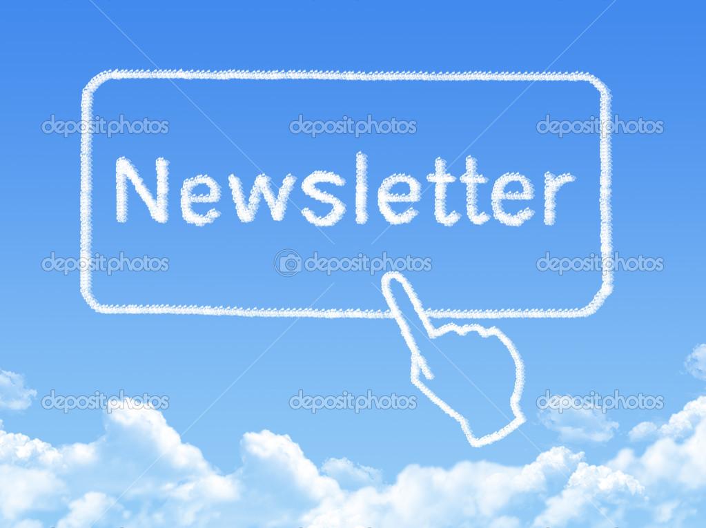 Newsletter message cloud shape