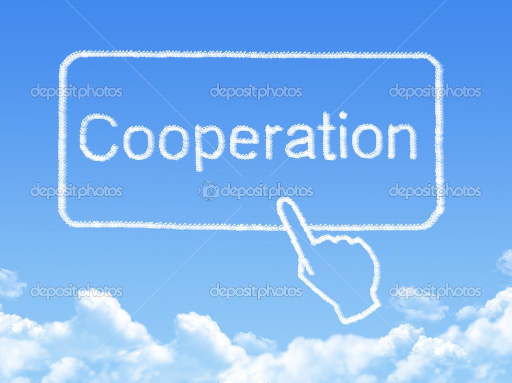Cooperation message cloud shape