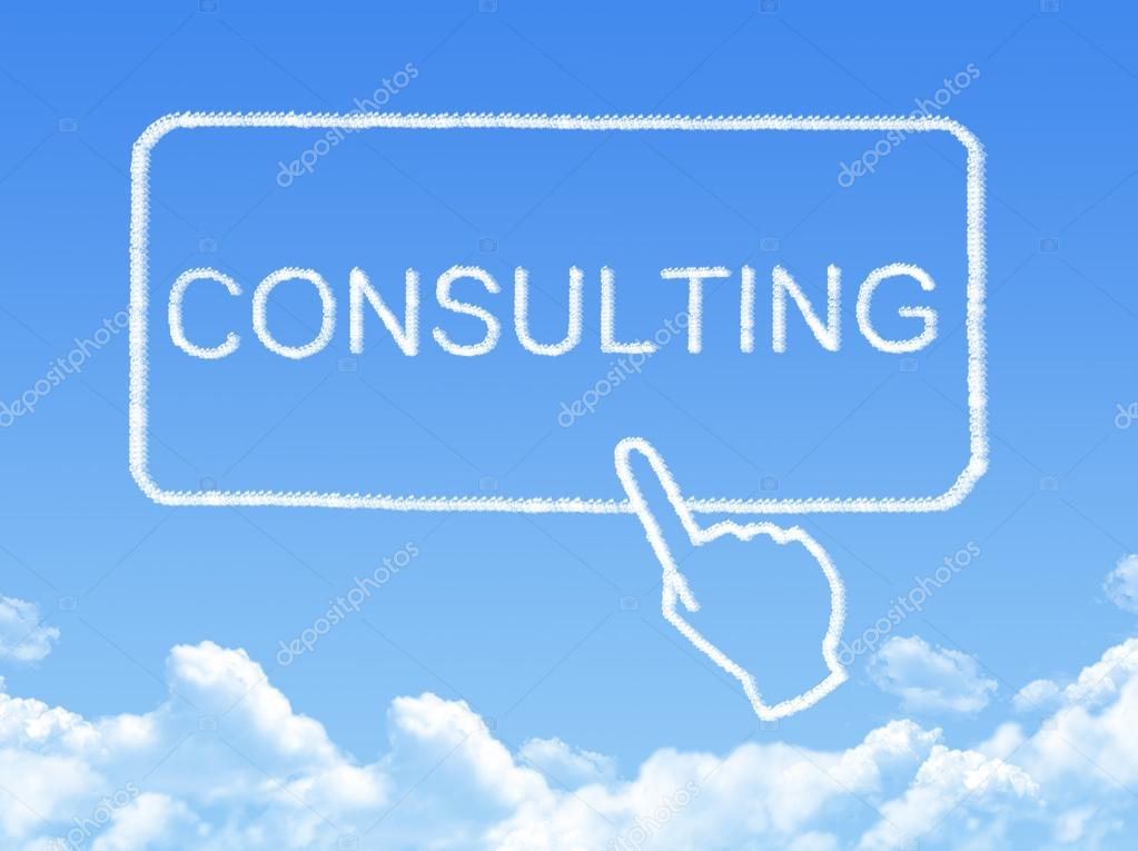 Consulting message cloud shape