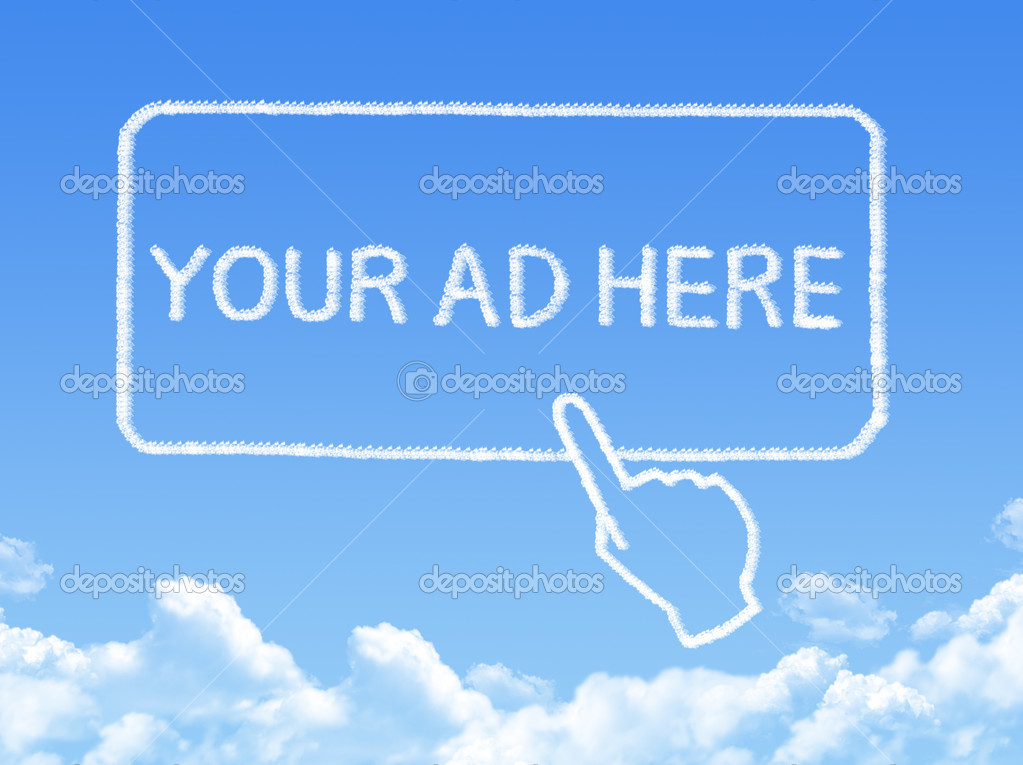Your ad here message cloud shape